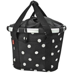 KLICKfix Bike Basket Black Dots von Reisenthel