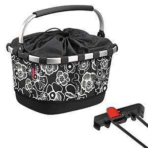 KLICKfix Carrybag GT für Racktime fleur schwarz