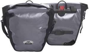 Norco Arkansas Gepäckträger Tasche wasserdicht grau