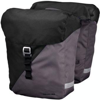 Racktime Doppel Packtasche Vida black-grey