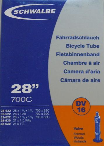 Schlauch Schwalbe Nr. 16 - 28 Zoll DV 40 mm